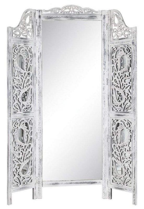 Biombo de madera con espejo