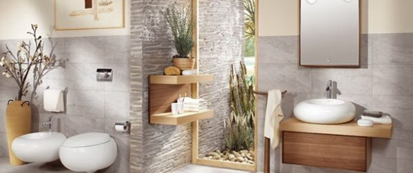 Biombo para mejorar en Fen Shui en el baño
