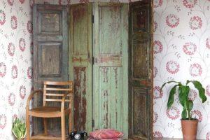 Biombos de madera antiguos vintage