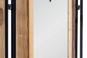 Mejor Biombo de madera Factory Lola Home espejo