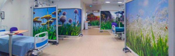Biombos en PVC hospitales