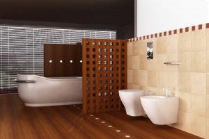 Biombos de madera separadores baño