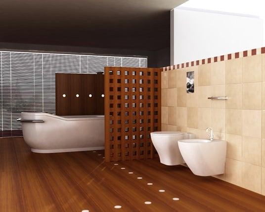 Biombo como separador baño